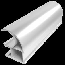 Вертикальный профиль С CLASSIC Серебро хим. полировка 5,4 м  1,1мм  PREMIAL
