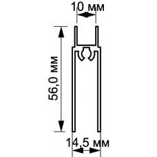 Рамка нижняя  черный матовый 1,2мм 5,35м  Аристо Т